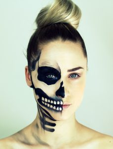 best-sugar-skull-makeup-half-face-for-women